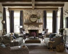 Rustic transitional great room