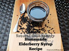 Natural Cold Remedy: Homemade Elderberry Syrup Recipe. It's frugal, easy to make, and a powerful kick against cold and flu symptoms. flavonoids and vitamins