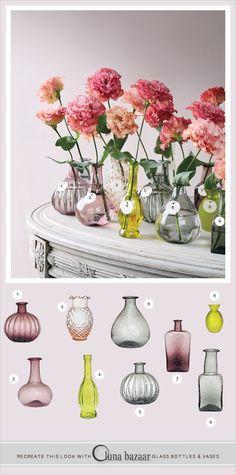 Luna Bazaar glass bottles