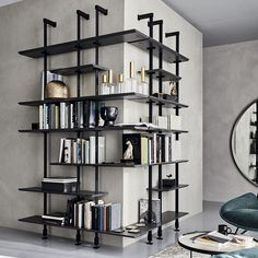 Home Decor Furniture, Furniture Design, Iron Furniture, Modern Furniture, Casa Loft, Modular Walls, Modular Shelving, Modern Shelving, Modern Bookcase