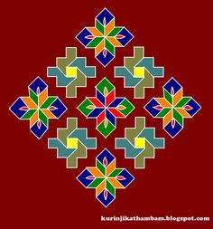 Kolam design from southern India