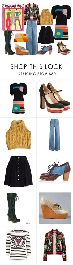 """Salute to My Favorite Childhood Paper Dolls"" by dita-west-grand ❤ liked on Polyvore featuring Valentino, Versace, RED Valentino, IRO, DimeCity, Rochas, SET, Gucci and Emilio Pucci"