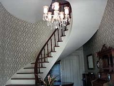 Spiral staircase in historic home for sale in Monticello, GA***