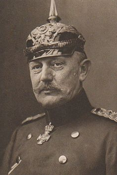 Helmuth von Moltke the Younger, chief of staff of the German Imperial Army during the early phase of WW1.