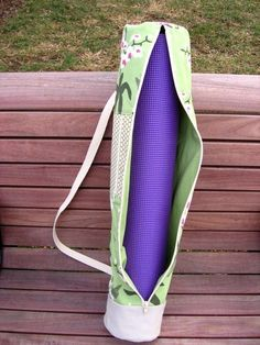 Yoga Mat Bag PDF Sewing Pattern by NeedleAndSpatula #yogamatbags