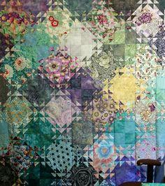 Shimmering Triangles; pattern by Jenny Bowker