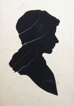 an Arthur Forrester slash-cut silhouette - a typical seaside pier souvenir from the early- or mid-20th century