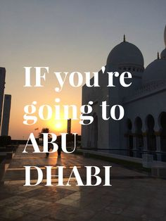 Are you travelling to Abu Dhabi? Here is a guide of the top best things to do there Living In Dubai, Free Blog, Abu Dhabi, Make You Feel, Traveling By Yourself, Travelling, Things To Do, Feelings, Movie Posters