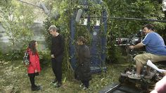 Is the Doctor religious? Because that is one 'holey' shirt! #rimshot  Here's some #bts pics from #IntheForestoftheNight