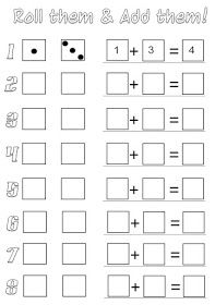 Jessies Resources FREE Printables for Math Reading Readiness Spelling Probability Comparison Science Certificates and Math Classroom, Kindergarten Math, Teaching Math, Kindergarten Addition, Teaching Geography, Math Resources, Math Activities, Math Games, Dice Games