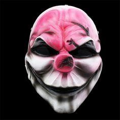 Payday 2 Mask Resin The Heist Wolf/Joker/Hoxton/Skull cosplay halloween horror clown masquerade cosplay Carnaval Costume men Halloween Costume Props, Joker Costume, Halloween Skull, Halloween Masks, Halloween Gifts, Halloween Horror, Payday 2 Masks, Payday Game, Mask Film
