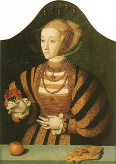 Dress of the Low Countries or not? The Duchy of Cleves straddled Germany and the Netherlands, and Anne was referred to as Dutch by Henry's court    Anne of Cleves by Hans Holbein. (St. John's College, Oxford)