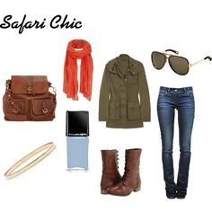 Safari Chic, created by empaintings on Polyvore