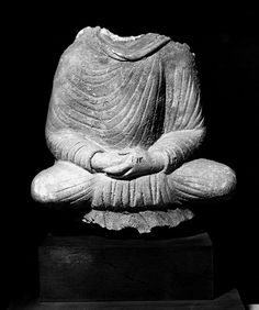 """Buddha, seated, in dhyanamudra From Hadda, Afghanistan stucco H: ca. 8"""" Kabul Museum, Kabul Photograph taken in 1970"""