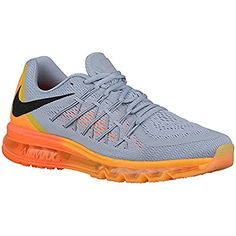 new concept 58c49 0e192 Men s Air Max 2015 Wolf Grey Total Orange Laser Orange Black Mesh Running  Shoes 8 M US    Learn more by visiting the image link. (This is an  affiliate link)