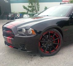 custom painted Dropstars DS643 wheels on 2013 DODGE Charger