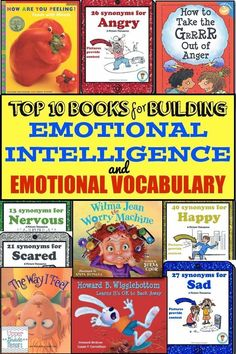 Top 10 Books for Building Emotional Intelligence and Emotional Vocabulary (link doesn't work but image at least gives titles) Social Emotional Development, Social Emotional Learning, Social Skills, Emotional Books, Social Work, Leadership Development, Coping Skills, Personal Development, Mentor Texts