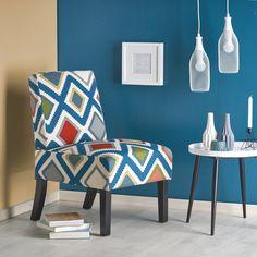 Fotoliu tapitat Fido Multicolored #homedecor #interiordesign #inspiration #decoration Pop Art, Accent Chairs, Aqua Blue, House Design, Interior Design, Inspiration, Furniture, Home Decor, Products