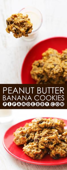 Peanut Butter Banana Cookies | Only THREE ingredients and 20 minutes ...