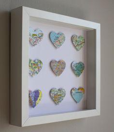 Custom made heart artwork by Ateliergreen on Etsy, €70.00