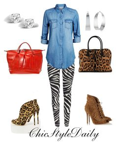 Casual Animal Print by chicstyledaily on Polyvore featuring Jack & Jones, Gianvito Rossi, Liliana, Joanna Maxham, Balmain, Glitzy Rocks and Vince Camuto