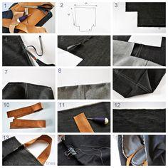 denim bag tutorial by // Between the Lines //, via Flickr