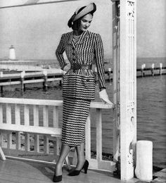 Anna Miller's two-piece dress designed by Earl Luick 1950