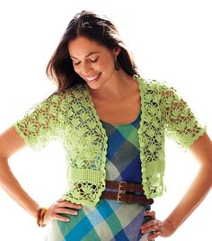 beautiful lace bolero, free crochet patterns in its pages, you'll find fabulous crochet patterns and helpful articles that support its. lace bolero is beautiful Cardigan Au Crochet, Gilet Crochet, Crochet Jacket, Crochet Cardigan, Crochet Stitches, Crochet Patterns, Pull Crochet, Mode Crochet, Knit Crochet