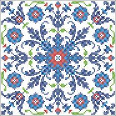 turkish pattern cross stitch b Cross Stitch Pillow, Cross Stitch Charts, Cross Stitch Designs, Cross Stitch Patterns, Cross Stitching, Cross Stitch Embroidery, Embroidery Patterns, Turkish Pattern, Palestinian Embroidery