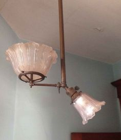 1885 Queen Anne – Delphi, IN Chandelier Lamp, Chandeliers, Lamps, Barn Storage, Vintage Light Fixtures, Finished Attic, Antique Lighting, Old House Dreams, Maine House