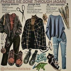 Grunge Outfits ideas with Fishnet Tights Vintage Outfits, Retro Outfits, Cute Casual Outfits, Casual Chic, Sporty Outfits, 90s Style Outfits, Flannel Outfits, Sporty Chic, Chic Outfits