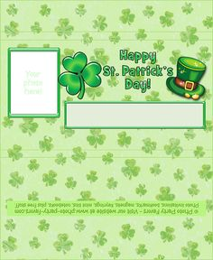 FREE St. Patrick's Day Printable Candy Bar Wrappers with easy instructions to add your own photo and personalization. More free printables at  http://www.photo-party-favors.com/