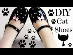 DIY Cat Shoes (Easy) Meow Meow - YouTube