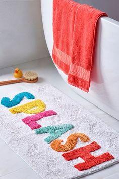 Buy Splash Bath Mat from the Next UK online shop Kids Bath Mat, Diy Bath Mats, Cute Bath Mats, Woven Laundry Basket, Nautical Bathrooms, Family Bathroom, Punch Needle, Bath Rugs, Diy
