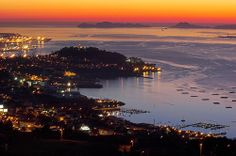 City of Vigo sunset Sun Galicia Sea Places Around The World, Around The Worlds, My Travel Map, Navigator Of The Seas, Paraiso Natural, Cruise Port, Going On Holiday, Spain And Portugal, Madrid
