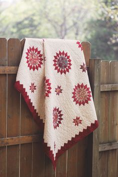 RUBY SUNRISE by Nancy Mahoney: This award-winning quilt is based on the classic sunburst pattern. It will take some time and patience to construct this quilt, but the results are worth it. A set of Marti Michell's templates will make the cutting easier.