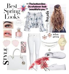 """""""spring passion style"""" by blerina-ylli ❤ liked on Polyvore featuring Vans, Michael Kors, Casetify, Guerlain, Marchesa, Nine West, H&M and Givenchy"""