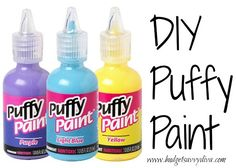 How to Make Puffy Paint: Love using puffy paint, but hate the price tag? Here's a cheap way to get some!    Mix together one cup flour, one cup salt, one cup water, and a generous amount of food coloring or tempera paint of your choice.    Put in a squeeze bottle, and allow your crafty ideas to show!