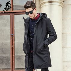 Jacket men brand clothing male cotton winter coat New top Quality black