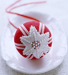 felt styrofoam ornament