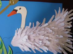 handprint swan bulletin board idea | Crafts and Worksheets for Preschool,Toddler and Kindergarten