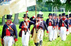 The Battle of Caulk's Field, a reenactment for the War of 1812 Bicentennial.  Kent County, MD.