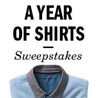 Win a Year's Worth of Shirts ($1,185) – open to the US and Canada!  #contest #sweepstakes #giveaway