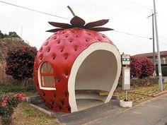 Strawberry bus stop ✿⊱╮