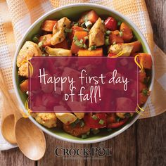 Happy #FirstDayOfFall! Celebrate with this fall-inspired Chicken and Sweet…