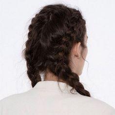 two braids // hair style ideas Pretty Hairstyles, Braided Hairstyles, Blonde Hairstyles, Hair Inspo, Hair Inspiration, Kings & Queens, Boxer Braids, Hair Day, Gorgeous Hair