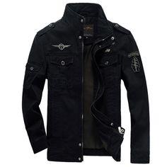 Casual Men Military Winter Cargo Solid Zipper Jacket Coat  Price: 54.65 & FREE Shipping  #poshmark