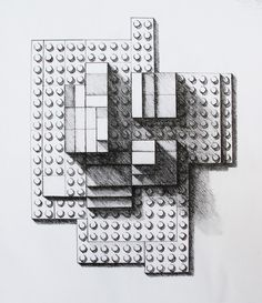 Form Study with Legos. Graphic Illustration, Illustrations, Birds Eye View, Art Education, Legos, Sculpting, Drawings, Perspective, Alice