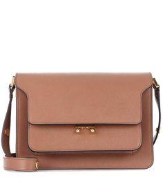 Marni Trunk brown leather shoulder bag