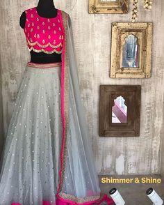 fully stitched for order price and details watsapp on or dm on insta! Half Saree Lehenga, Lehnga Dress, Lehenga Blouse, Indian Lehenga, Anarkali, Bridal Lehenga, Half Saree Designs, Choli Designs, Lehenga Designs